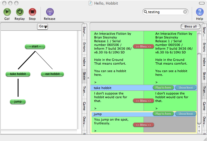 Screenshot of Inform 7 IDE